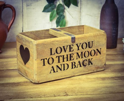 Medium Vintage Box Love You To The Moon And Back
